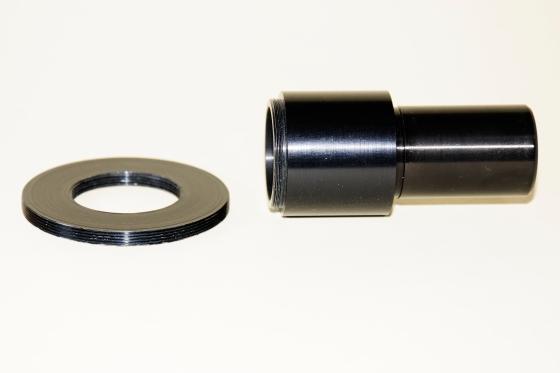 Mikroskop-Adapter für eine Nikon Coolpix 4500. Anpassungsring für ein anderes Objektiv.