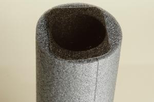 Polarisationsfilter auf Schaumstoffschlauch kleben