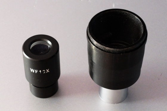Adapter und Okular