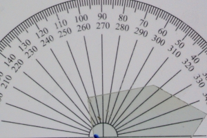 Intensität des Lichts bei ca. 10 Grad.