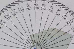 Intensität des Lichts bei ca. 20 Grad Verschiebung.