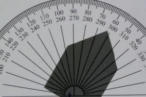Intensität des Lichts bei ca. 60 Grad Drehung.
