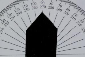 Intensität des Lichts bei ca. 90 Grad Drehung.