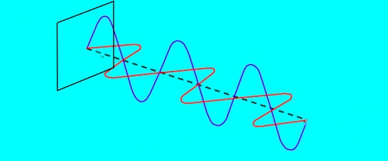 Horizontale und vertikale Komponente einer polarisierten Welle.